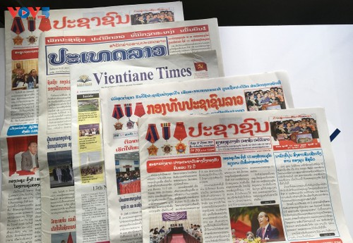 Truyền thông Lào đồng loạt đưa tin về Đại hội lần thứ XIII Đảng Cộng sản Việt Nam - ảnh 1