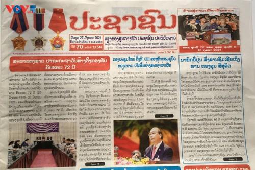 Truyền thông Lào đồng loạt đưa tin về Đại hội lần thứ XIII Đảng Cộng sản Việt Nam - ảnh 2