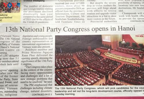 Truyền thông Lào đồng loạt đưa tin về Đại hội lần thứ XIII Đảng Cộng sản Việt Nam - ảnh 3