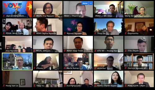 Cộng đồng người Việt tại New York gặp mặt trực tuyến đón Xuân Tân Sửu 2021 - ảnh 1