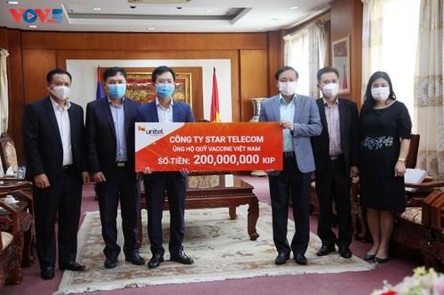 Các địa phương, doanh nghiệp tại Lào ủng hộ 30.000 USD giúp Việt Nam chống dịch - ảnh 1