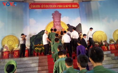 Lễ dâng hương tưởng niệm các Vua Hùng tại các địa phương trong cả nước - ảnh 13