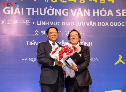 Người Việt Nam đầu tiên nhận giải thưởng văn hóa Hàn Quốc Sejong - ảnh 2