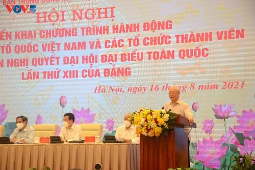 Le Front de la Patrie du Vietnam met en oeuvre la résolution du 13e congrès national du PCV - ảnh 1