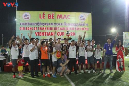 Bế mạc giải bóng đá giao hữu của người Việt Nam tại Lào - ảnh 1