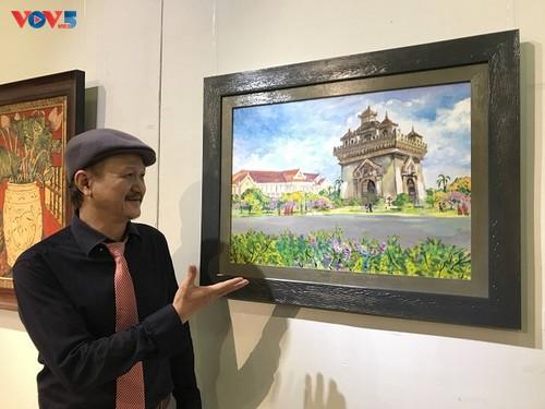 Triển lãm tranh của họa sỹ Lê Dũng Cường về đất nước Lào - ảnh 2