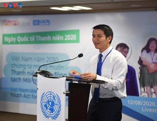 Jóvenes vietnamitas responden al Día Internacional de la Juventud - ảnh 2