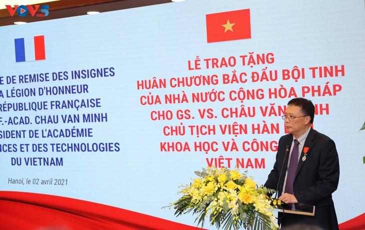 GS.VS. Châu Văn Minh, Chủ tịch Viện Hàn lâm Khoa học và Công nghệ Việt Nam được trao Huân chương Bắc đẩu Bội tinh của Pháp - ảnh 3