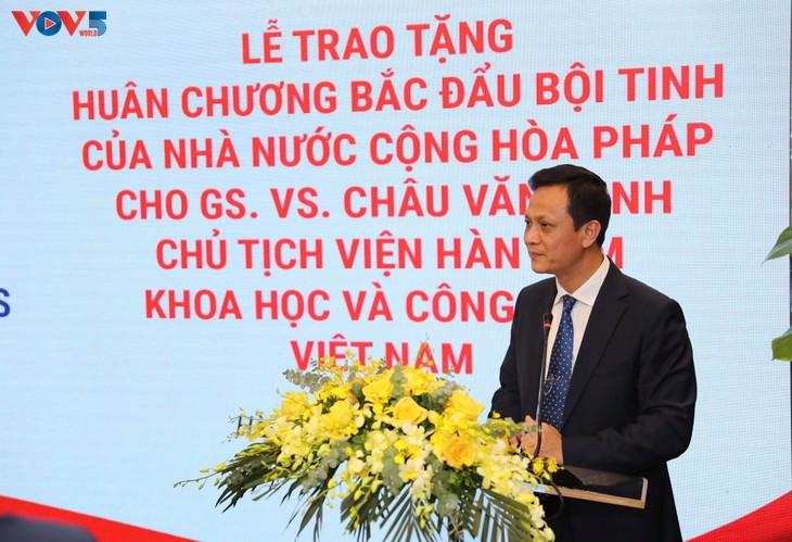 GS.VS. Châu Văn Minh, Chủ tịch Viện Hàn lâm Khoa học và Công nghệ Việt Nam được trao Huân chương Bắc đẩu Bội tinh của Pháp - ảnh 4