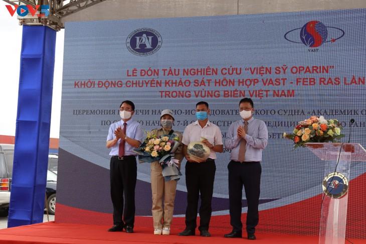 """Viện Hàn lâm Khoa học và Công nghệ Việt Nam tổ chức lễ trực tuyến đón tàu nghiên cứu """"Viện sỹ Oparin"""" - ảnh 6"""
