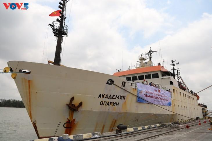 """Viện Hàn lâm Khoa học và Công nghệ Việt Nam tổ chức lễ trực tuyến đón tàu nghiên cứu """"Viện sỹ Oparin"""" - ảnh 7"""