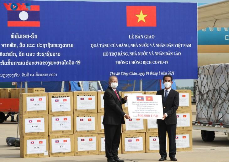 越南向老挝援助抗疫物资 - ảnh 1