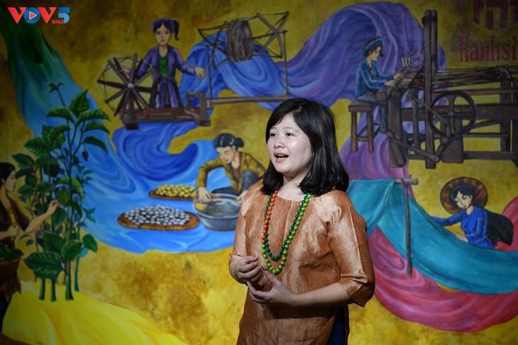 Các em nhỏ tìm hiểu về lụa đũi truyền thống Việt - ảnh 3