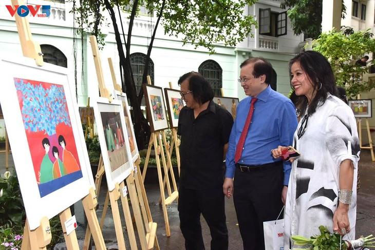 Triển lãm tranh của họa sĩ đương đại Việt vẽ trong mùa cách ly - ảnh 7