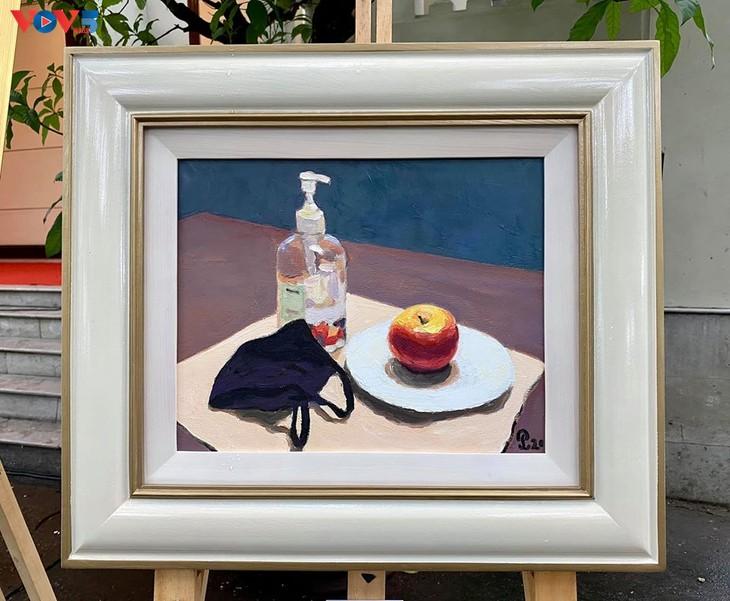 Triển lãm tranh của họa sĩ đương đại Việt vẽ trong mùa cách ly - ảnh 12