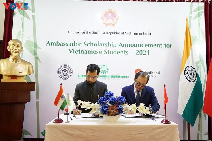 113 bourses d'études supérieures accordées par quatre universités indiennes - ảnh 1