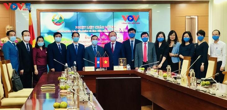 Tăng cường hợp tác giữa VOV và cơ quan truyền thông của Lào - ảnh 1