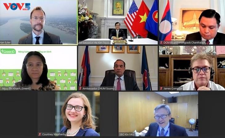 เวียดนามเข้าร่วมการสัมมนาประกาศรายงานผลการสนทนานโยบายหุ้นส่วนแม่โขง-สหรัฐ - ảnh 1