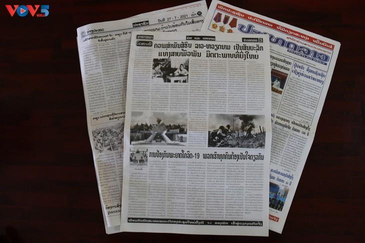 Lao media honor Vietnamese volunteers' contributions - ảnh 1