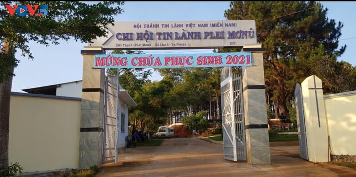 Plei Mo Nu Protestant church in Pleiku city - ảnh 1