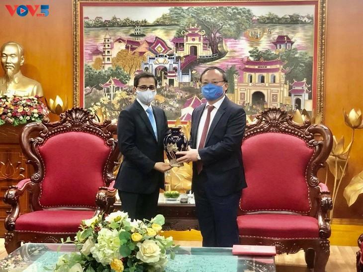 越南之声与印度驻越南大使馆加强信息交换合作 - ảnh 1