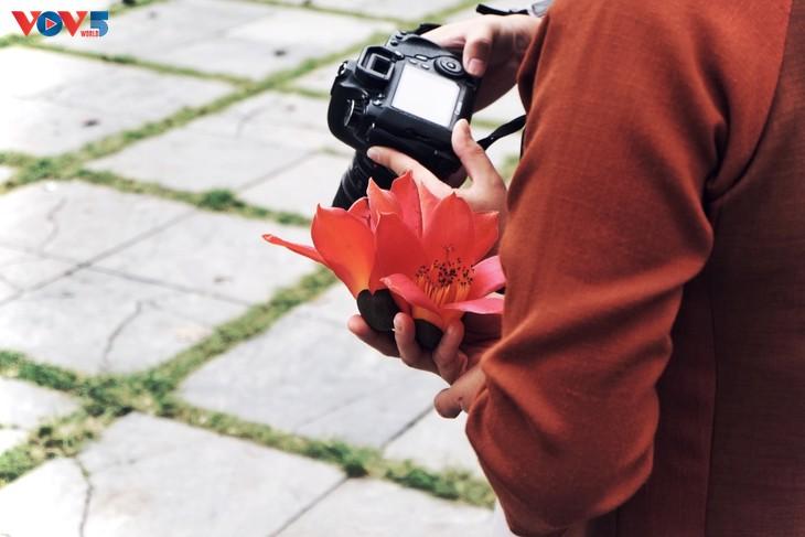 Chùa Thầy: Thương nhớ mùa hoa gạo tháng 3 - ảnh 1