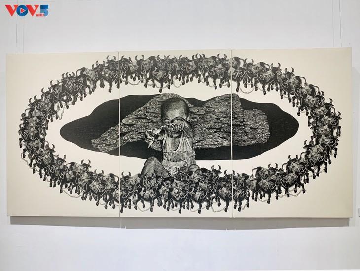 Nguyễn Khắc Hân với triển lãm 10 năm đi cùng tranh khắc gỗ - ảnh 5