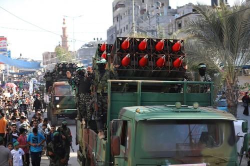 Hamás realiza desfile militar en Gaza  - ảnh 1