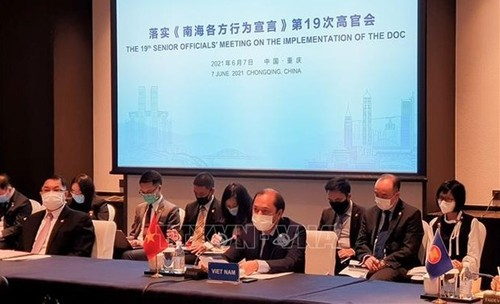 Vietnam participa en XIX Reunión de Altos Funcionarios de Asean-China sobre la implementación de DOC - ảnh 1