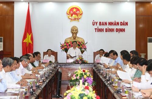 越南政府副总理王庭惠视察平定省 - ảnh 1