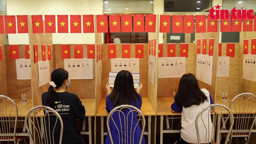 Universities ready for national election day  - ảnh 1