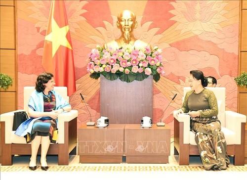 Ketua MN Vietnam, Nguyen Thi Kim Ngan Menerima Dubes Kuba - ảnh 1