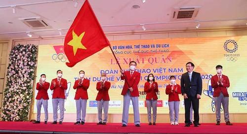 Vietnamese delegation sent off to Tokyo 2020 Olympics - ảnh 1