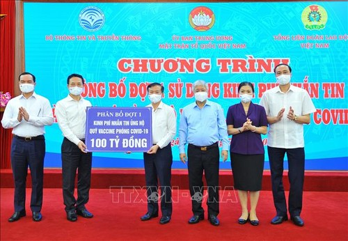 4.3 million USD from the text message donation campaign to fight Covid-19 - ảnh 1