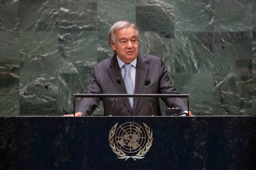 UN chief warns of a divided, polarized world at General Assembly opening  - ảnh 1