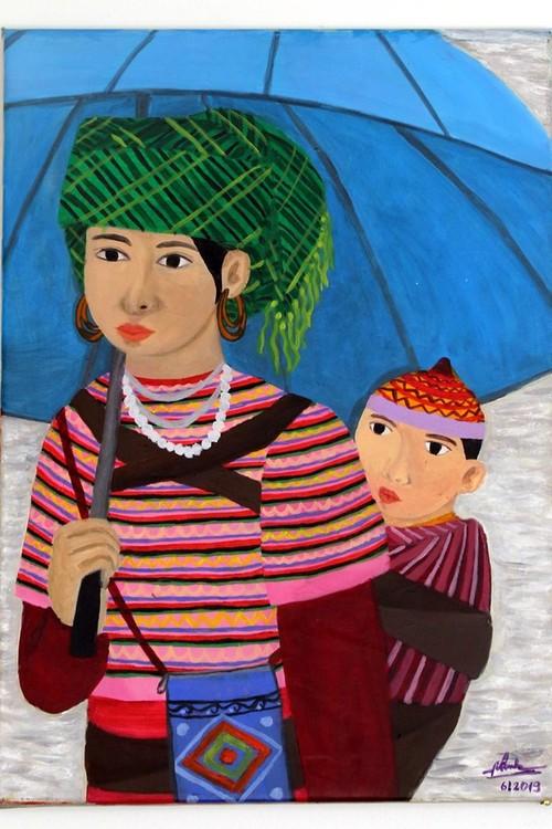 Das Werk einer vietnamesischen Malerin wird in Italien ausgestellt - ảnh 1
