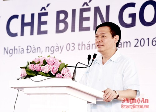 Deputy Prime Minister Vuong Dinh Hue attended major project ground breaking ceremonies in Nghe An - ảnh 1