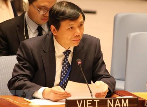 Việt Nam đóng góp ý kiến tại phiên thảo luận mở của HĐBA về phụ nữ, hòa bình và an ninh - ảnh 1