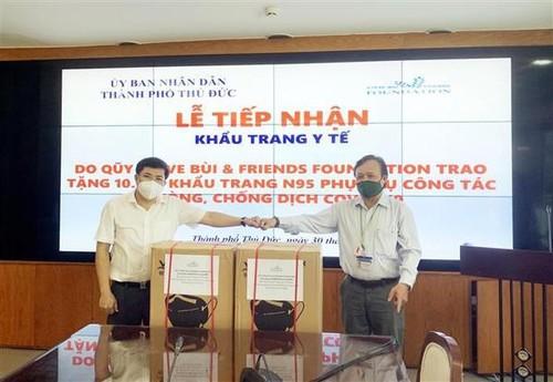 Vietnamese community abroad supports HCMC's COVID-19 fight - ảnh 1