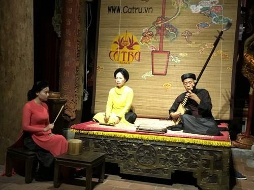 Kota Ha Noi berupaya keras untuk mengkonservasikan lagu rakyat Ca Tru - ảnh 1