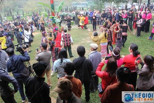 Perkampungan Budaya-Wisata  Etnis-Etnis Viet Nam dengan pesta-pesta awal musim semi - ảnh 1