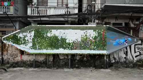 Thông điệp bảo vệ môi trường từ con đường nghệ thuật ven sông Hồng - ảnh 1