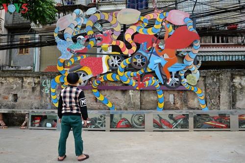 Thông điệp bảo vệ môi trường từ con đường nghệ thuật ven sông Hồng - ảnh 5