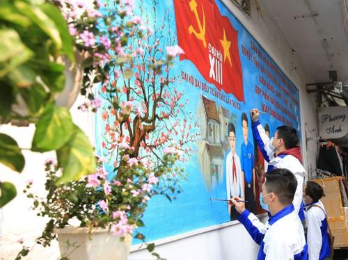 Hà Nội rực rỡ cờ hoa chào mừng Đại hội lần thứ XIII của Đảng - ảnh 10