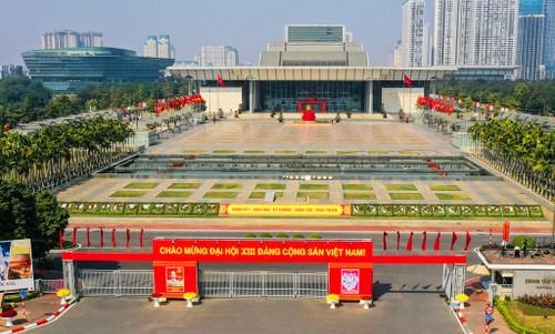 Hà Nội rực rỡ cờ hoa chào mừng Đại hội lần thứ XIII của Đảng - ảnh 16