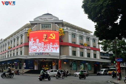 Hà Nội rực rỡ cờ hoa chào mừng Đại hội lần thứ XIII của Đảng - ảnh 2