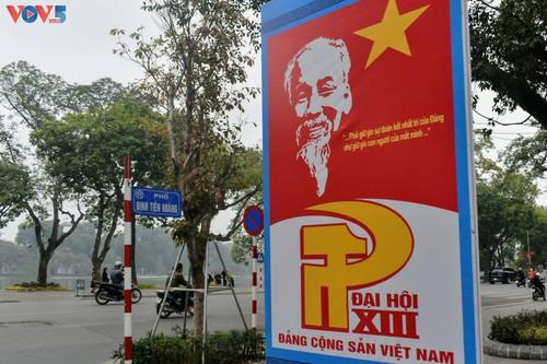 Hà Nội rực rỡ cờ hoa chào mừng Đại hội lần thứ XIII của Đảng - ảnh 3