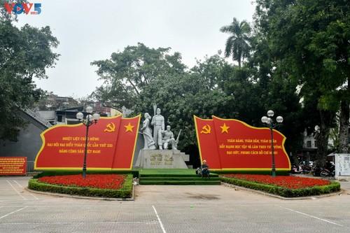 Hà Nội rực rỡ cờ hoa chào mừng Đại hội lần thứ XIII của Đảng - ảnh 6