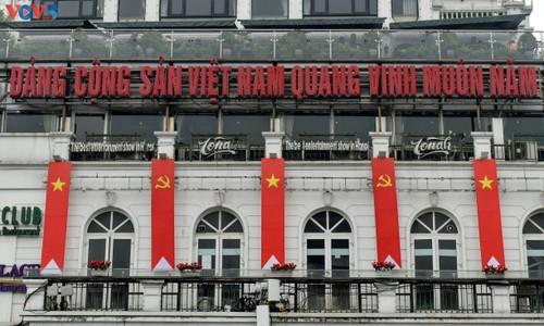 Hà Nội rực rỡ cờ hoa chào mừng Đại hội lần thứ XIII của Đảng - ảnh 7