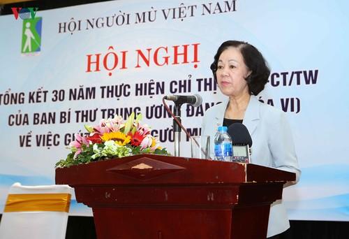 Truong Thi Mai: le progrès doit profiter aux personnes handicapées  - ảnh 1